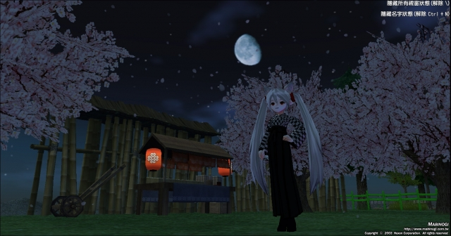 月亮跟樱花树