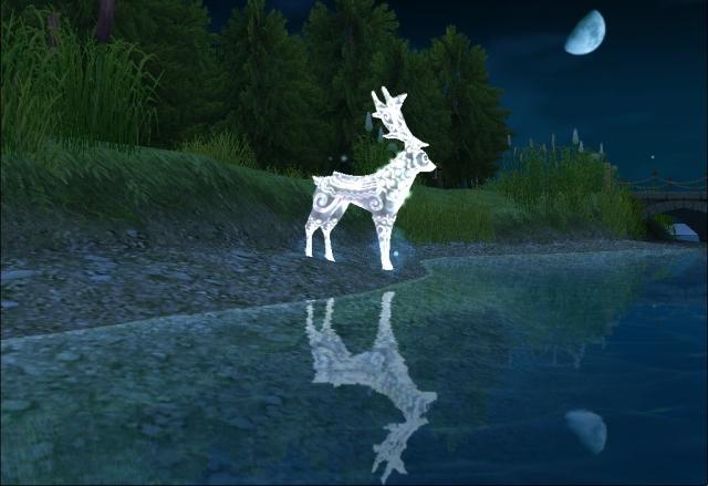 湖边出现的神话动物
