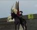 獨角獸雕像前的黑騎士 = w =