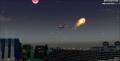 往上飛的隕石?